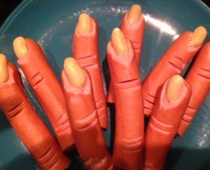 Furchterregendes Halloween-Fingerfood