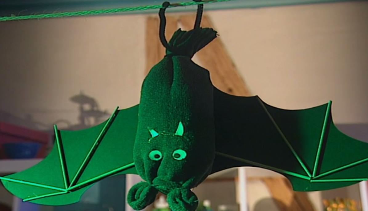 Fledermaus basteln an Halloween