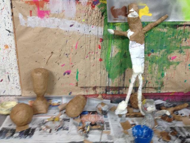Kreative Kunstwerke fertigten die Paria Trennungskinder im Atelier