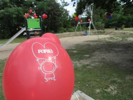 Spielgeräte für das Flüchtlingswohnheim der Paria Stiftung